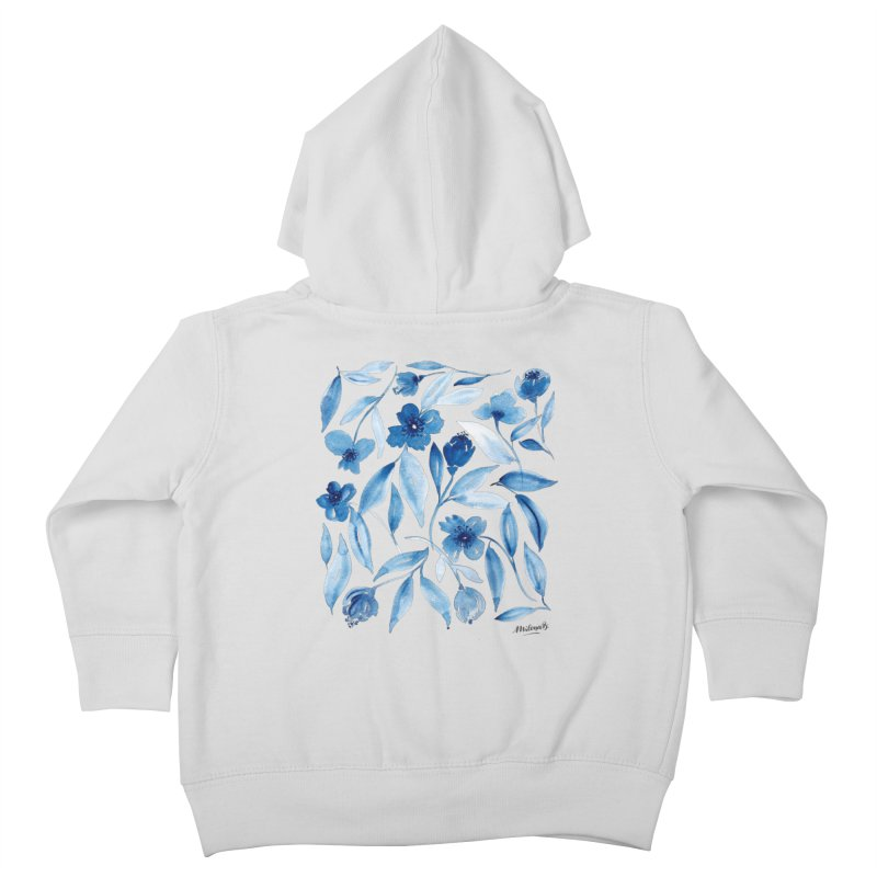 Prussian Floral Kids Toddler Zip-Up Hoody by milenabdesign's Artist Shop