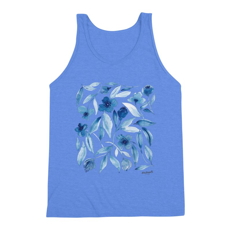 Prussian Floral Men's Tank by milenabdesign's Artist Shop