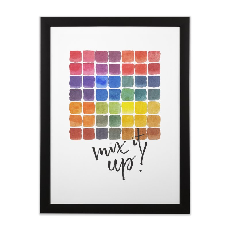 Mix it Up! - Mixing Chart Home Framed Fine Art Print by milenabdesign's Artist Shop