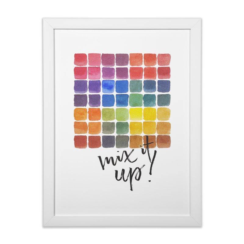 Mix it Up! - Mixing Chart Home Framed Fine Art Print by milenabdesign's Artist Shop