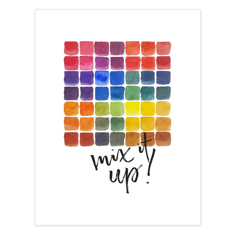 Mix it Up! - Mixing Chart Home Fine Art Print by milenabdesign's Artist Shop