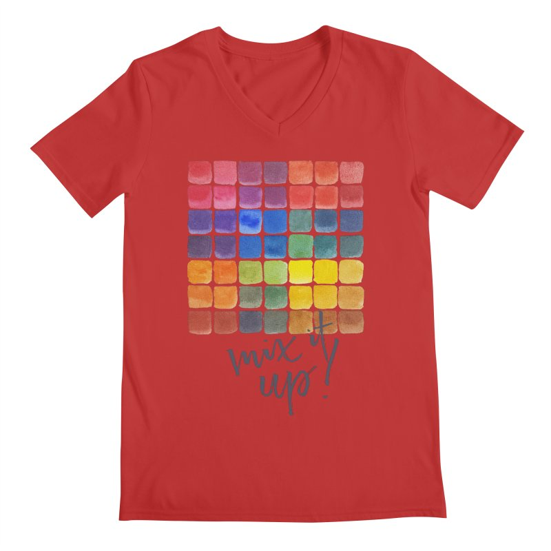 Mix it Up! - Mixing Chart Men's V-Neck by milenabdesign's Artist Shop