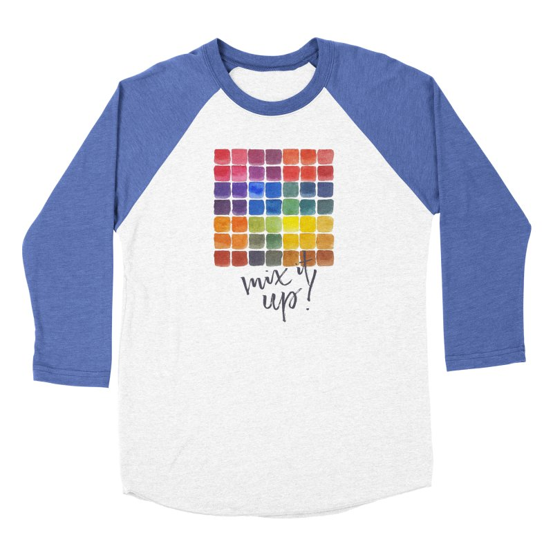 Mix it Up! - Mixing Chart Men's Baseball Triblend Longsleeve T-Shirt by milenabdesign's Artist Shop