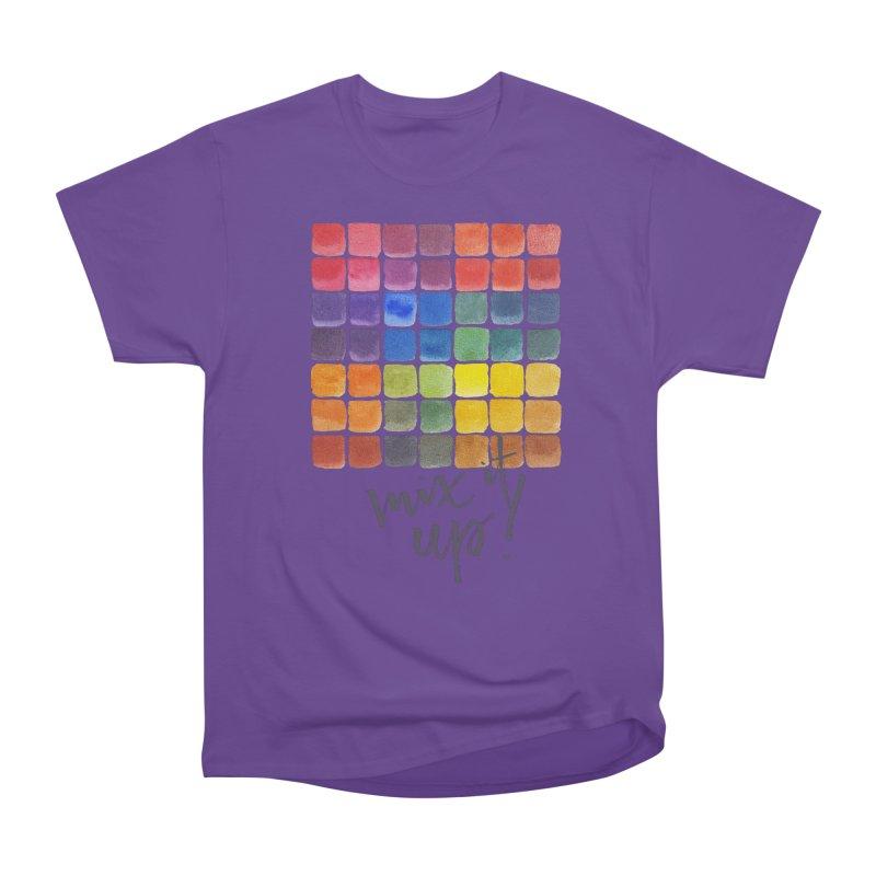 Mix it Up! - Mixing Chart Women's Heavyweight Unisex T-Shirt by milenabdesign's Artist Shop
