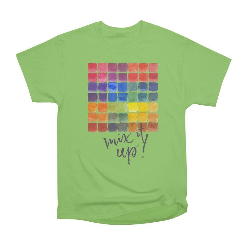 Mix it Up! - Mixing Chart Men's Heavyweight T-Shirt by milenabdesign's Artist Shop