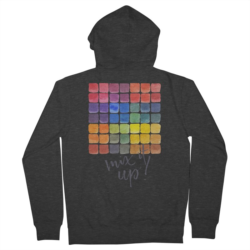 Mix it Up! - Mixing Chart Women's Zip-Up Hoody by milenabdesign's Artist Shop
