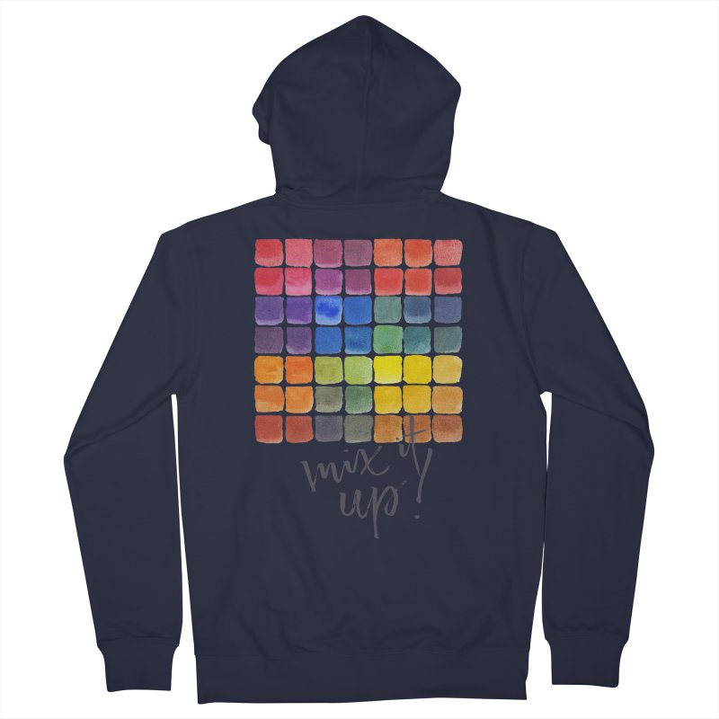 Mix it Up! - Mixing Chart Women's French Terry Zip-Up Hoody by milenabdesign's Artist Shop