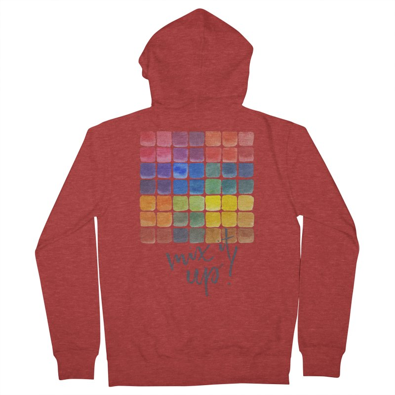 Mix it Up! - Mixing Chart Men's French Terry Zip-Up Hoody by milenabdesign's Artist Shop