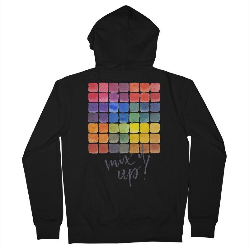 Mix it Up! - Mixing Chart Men's Zip-Up Hoody by milenabdesign's Artist Shop