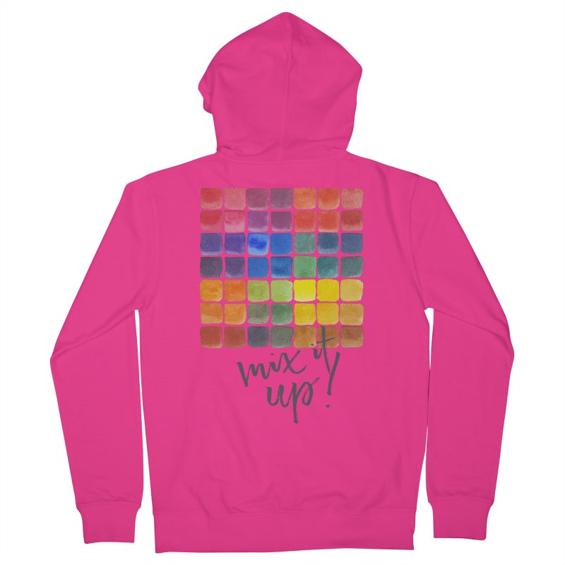 Mix it Up! - Mixing Chart Men's Zip-Up Hoody by milenabdesign's Artist Shop