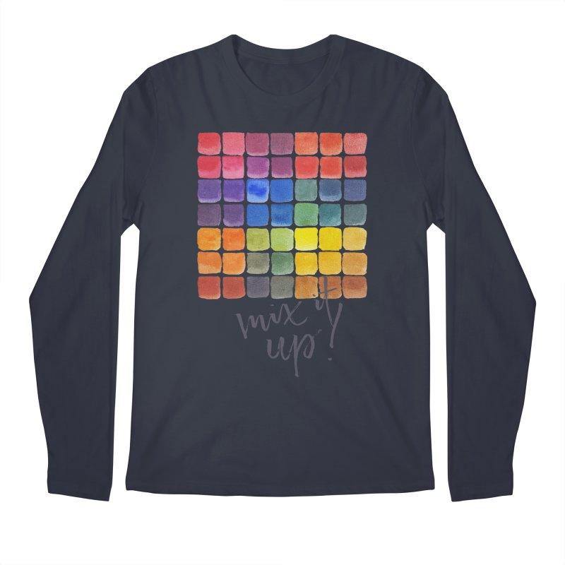 Mix it Up! - Mixing Chart Men's Regular Longsleeve T-Shirt by milenabdesign's Artist Shop