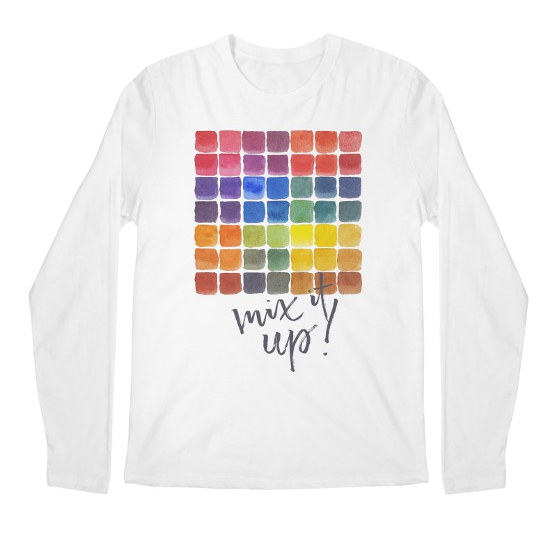 Mix it Up! - Mixing Chart Men's Regular Longsleeve T-Shirt by milenabdesign's Artist Shop