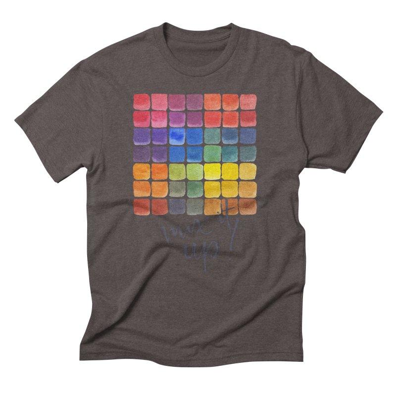 Mix it Up! - Mixing Chart Men's Triblend T-Shirt by milenabdesign's Artist Shop