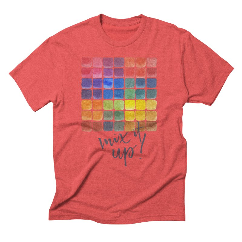 Mix it Up! - Mixing Chart Men's Triblend T-Shirt by milenabdesign's Artist Shop