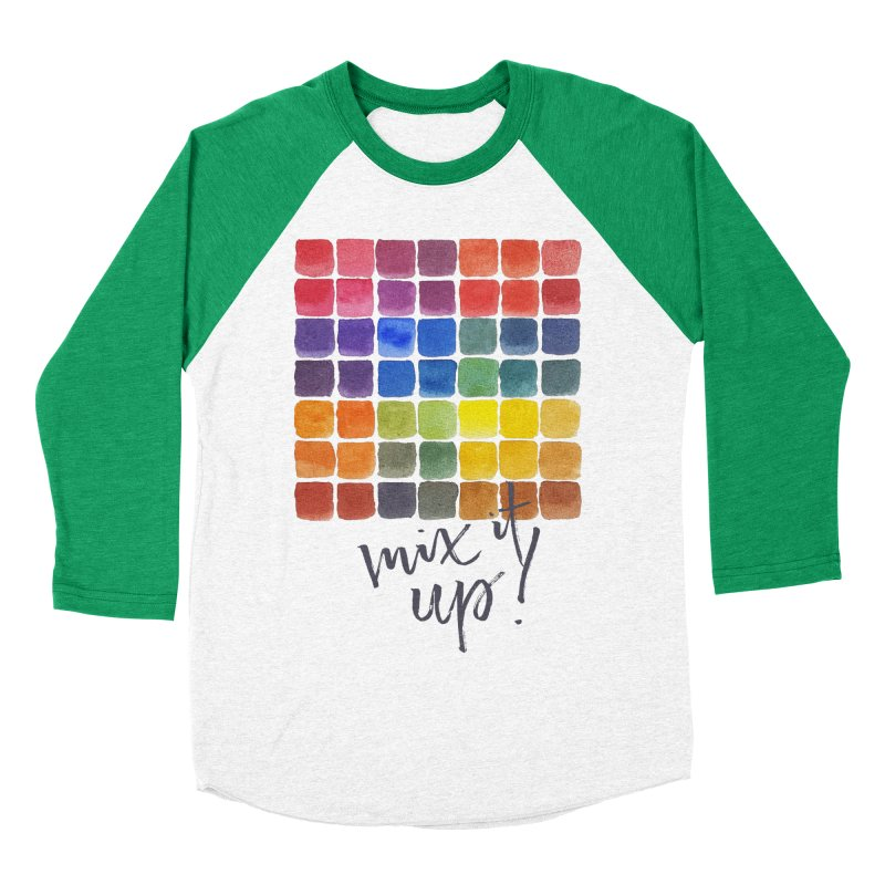 Mix it Up! - Mixing Chart Men's Baseball Triblend Longsleeve T-Shirt by milenabdesign's Artist Shop