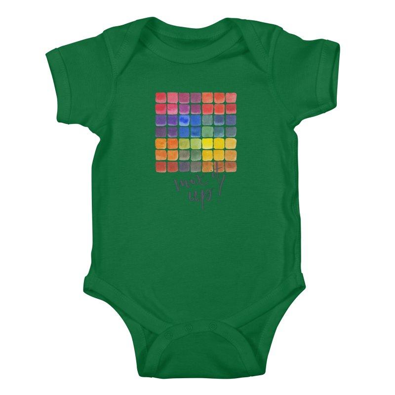Mix it Up! - Mixing Chart Kids Baby Bodysuit by milenabdesign's Artist Shop