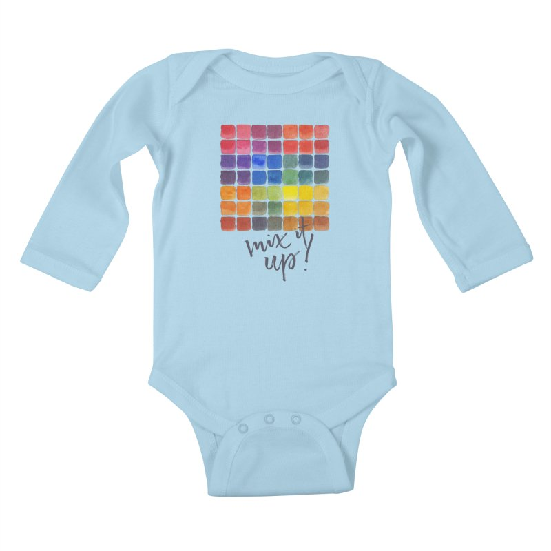 Mix it Up! - Mixing Chart Kids Baby Longsleeve Bodysuit by milenabdesign's Artist Shop