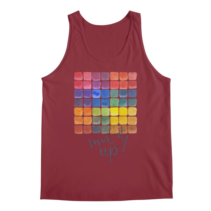 Mix it Up! - Mixing Chart Men's Tank by milenabdesign's Artist Shop