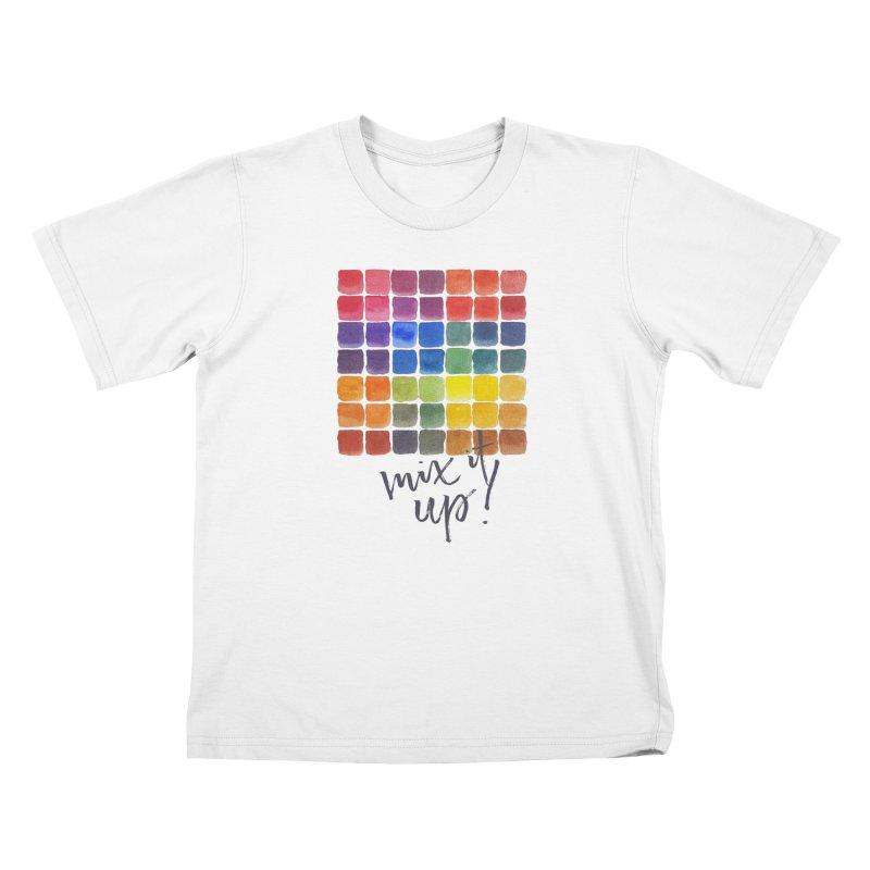 Mix it Up! - Mixing Chart Kids T-Shirt by milenabdesign's Artist Shop