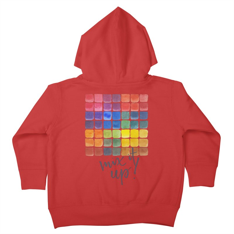 Mix it Up! - Mixing Chart Kids Toddler Zip-Up Hoody by milenabdesign's Artist Shop