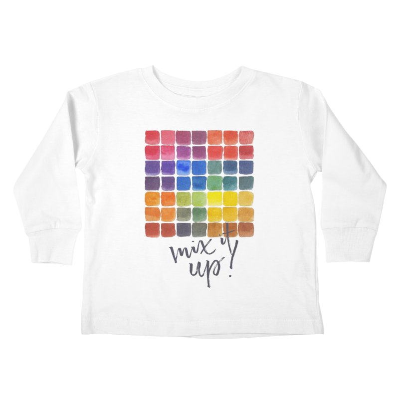 Mix it Up! - Mixing Chart Kids Toddler Longsleeve T-Shirt by milenabdesign's Artist Shop