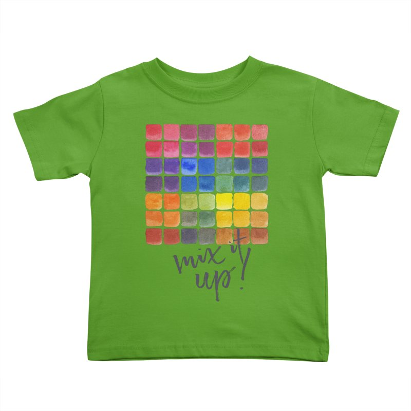 Mix it Up! - Mixing Chart Kids Toddler T-Shirt by milenabdesign's Artist Shop