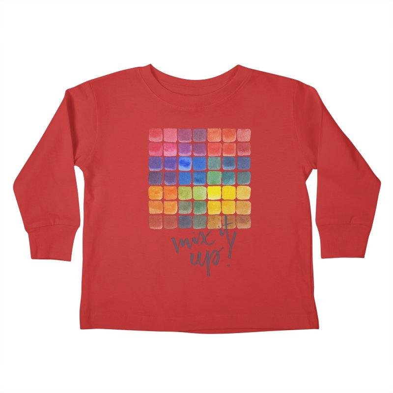Mix it Up! - Mixing Chart Kids Toddler Longsleeve T-Shirt by milenabdesign's Artist Shop