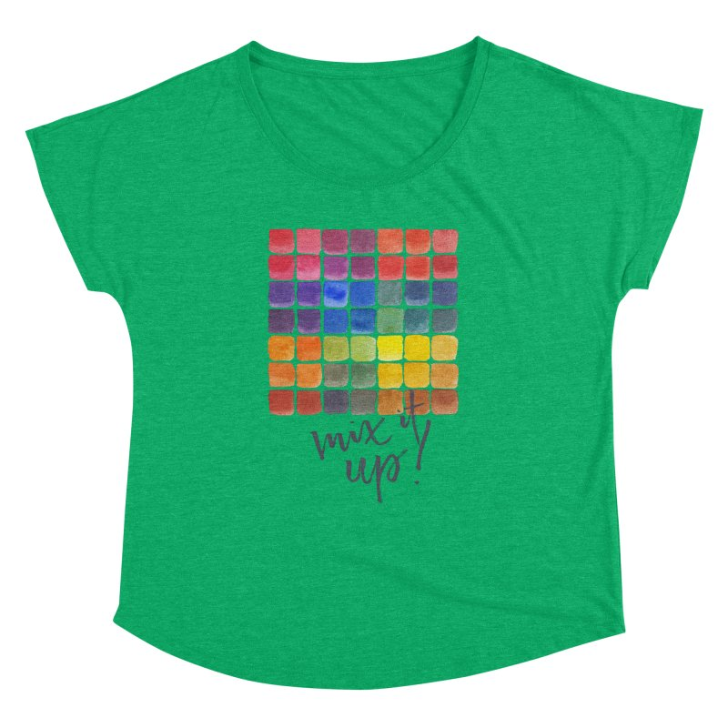 Mix it Up! - Mixing Chart Women's Dolman Scoop Neck by milenabdesign's Artist Shop