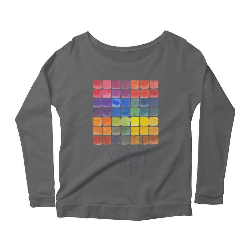 Mix it Up! - Mixing Chart Women's Scoop Neck Longsleeve T-Shirt by milenabdesign's Artist Shop