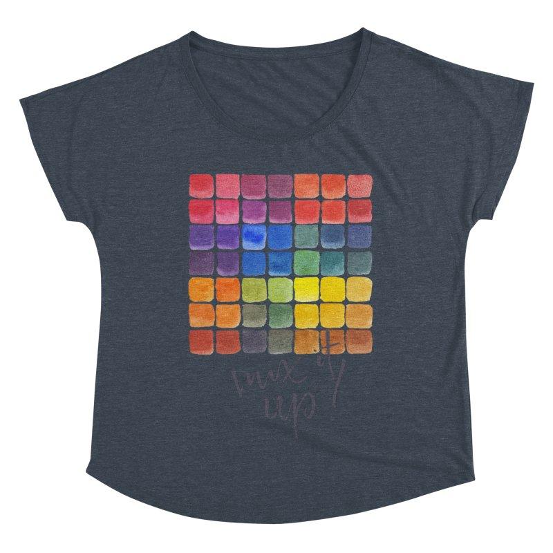 Mix it Up! - Mixing Chart Women's Dolman Scoop Neck by milenabdesign's Artist Shop
