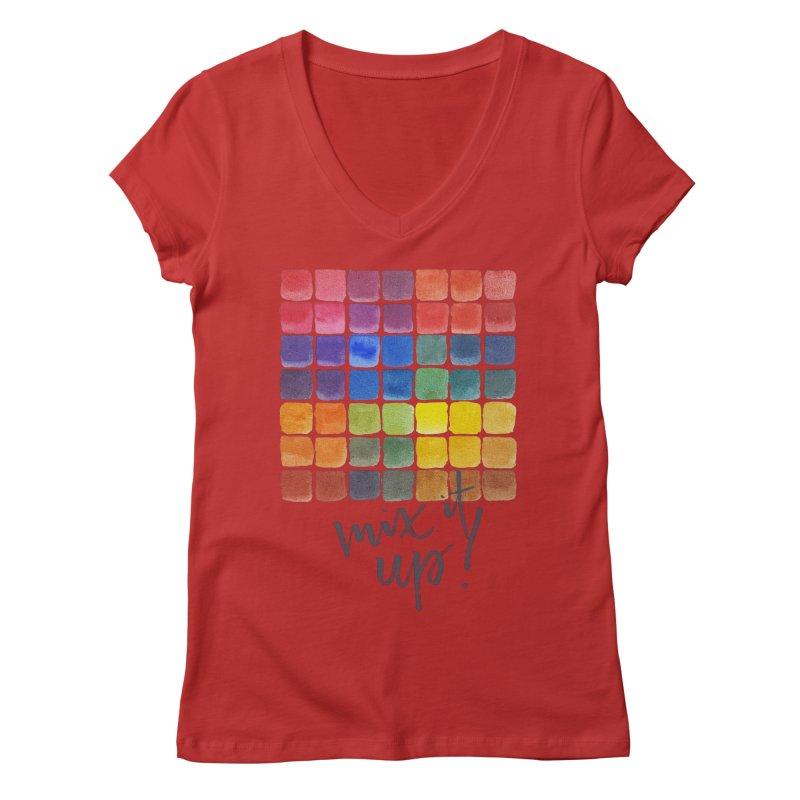 Mix it Up! - Mixing Chart Women's Regular V-Neck by milenabdesign's Artist Shop