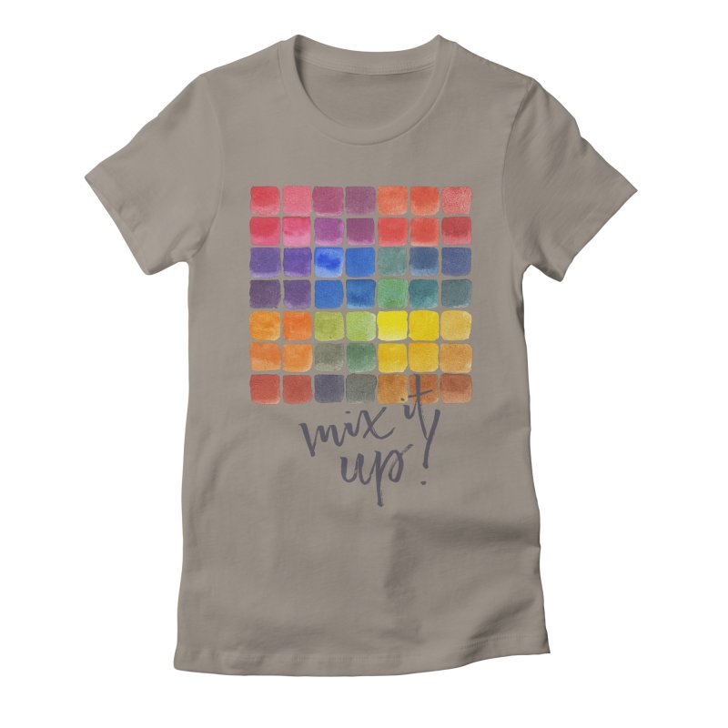 Mix it Up! - Mixing Chart Women's Fitted T-Shirt by milenabdesign's Artist Shop