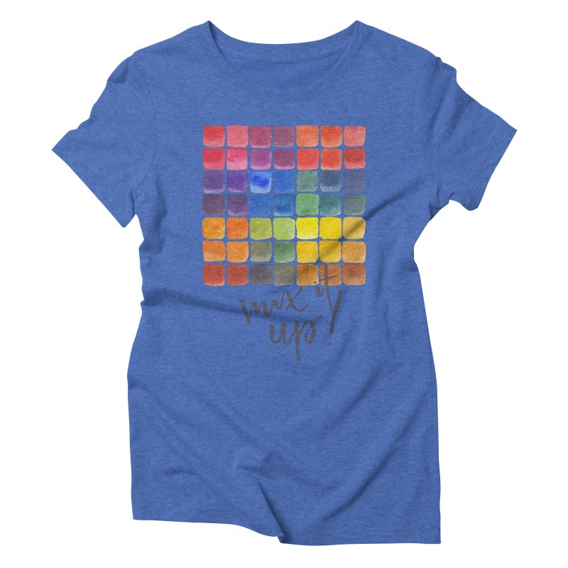 Mix it Up! - Mixing Chart Women's Triblend T-Shirt by milenabdesign's Artist Shop