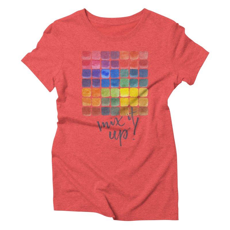 Mix it Up! - Mixing Chart Women's Triblend T-Shirt by milenabdesign's Artist Shop
