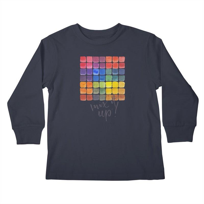 Mix it Up! - Mixing Chart Kids Longsleeve T-Shirt by milenabdesign's Artist Shop