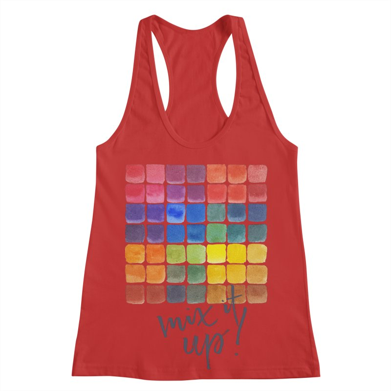 Mix it Up! - Mixing Chart Women's Racerback Tank by milenabdesign's Artist Shop