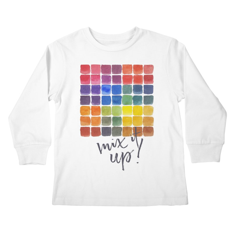 Mix it Up! - Mixing Chart Kids Longsleeve T-Shirt by milenabdesign's Artist Shop