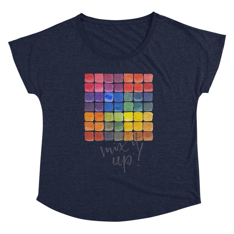 Mix it Up! - Mixing Chart Women's Scoop Neck by milenabdesign's Artist Shop