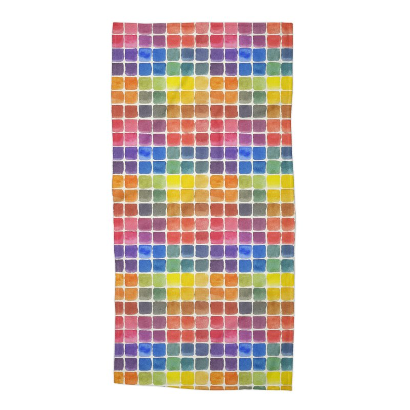 Mix it Up! - Watercolor Chart Pattern Accessories Beach Towel by milenabdesign's Artist Shop