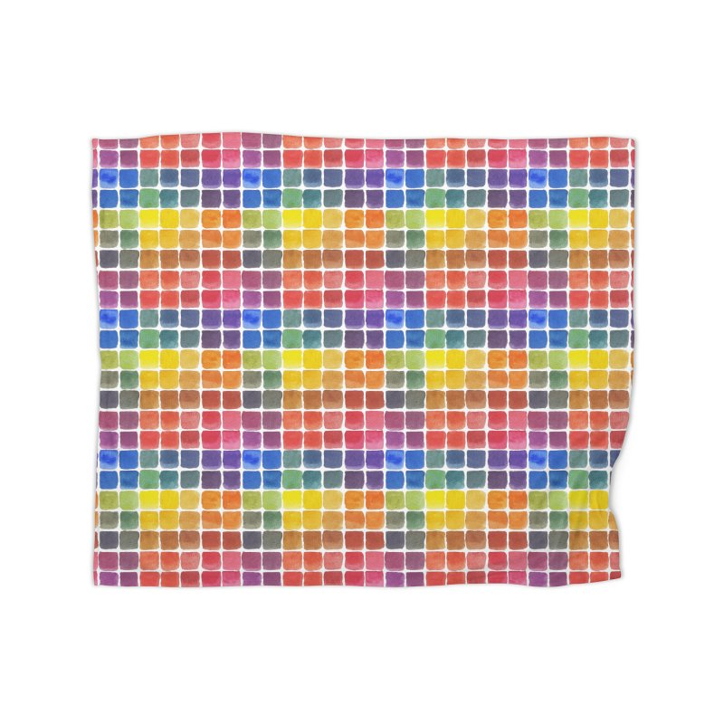 Mix it Up! - Watercolor Chart Pattern Home Fleece Blanket Blanket by milenabdesign's Artist Shop