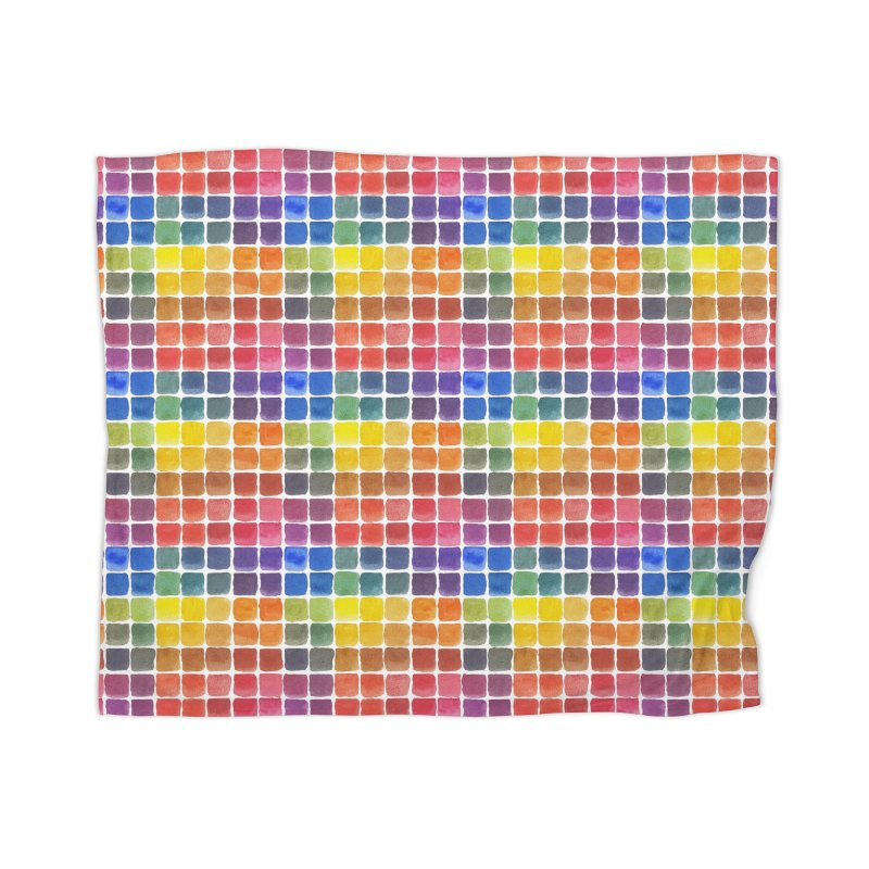 Mix it Up! - Watercolor Chart Pattern Home Blanket by milenabdesign's Artist Shop