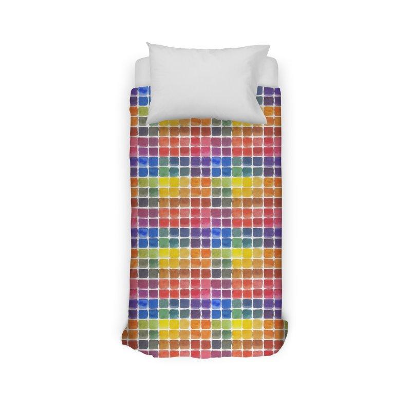 Mix it Up! - Watercolor Chart Pattern Home Duvet by milenabdesign's Artist Shop