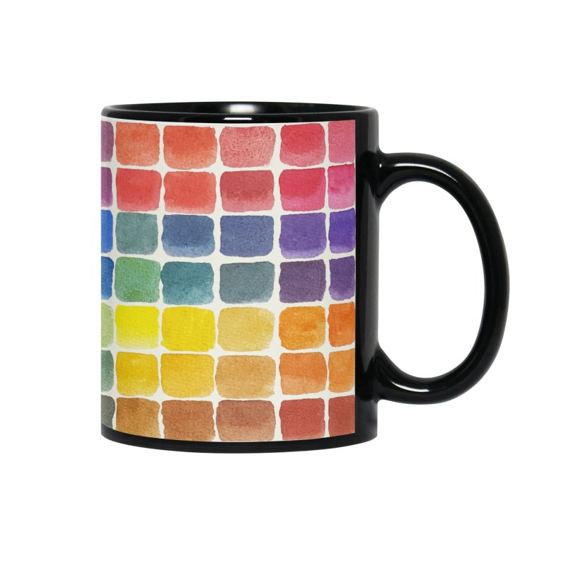 Mix it Up! - Watercolor Chart Pattern Accessories Mug by milenabdesign's Artist Shop