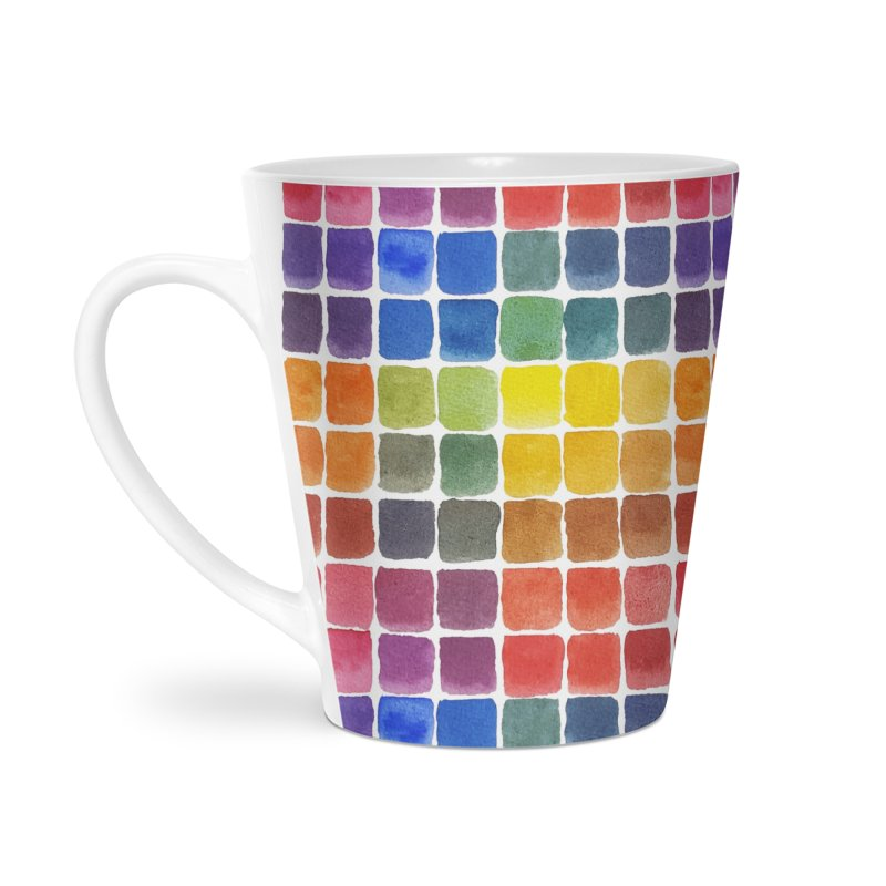 Mix it Up! - Watercolor Chart Pattern Accessories Latte Mug by milenabdesign's Artist Shop