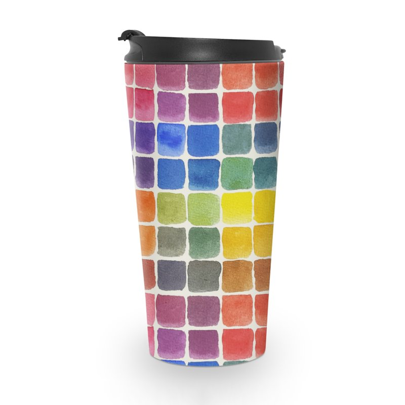 Mix it Up! - Watercolor Chart Pattern Accessories Travel Mug by milenabdesign's Artist Shop