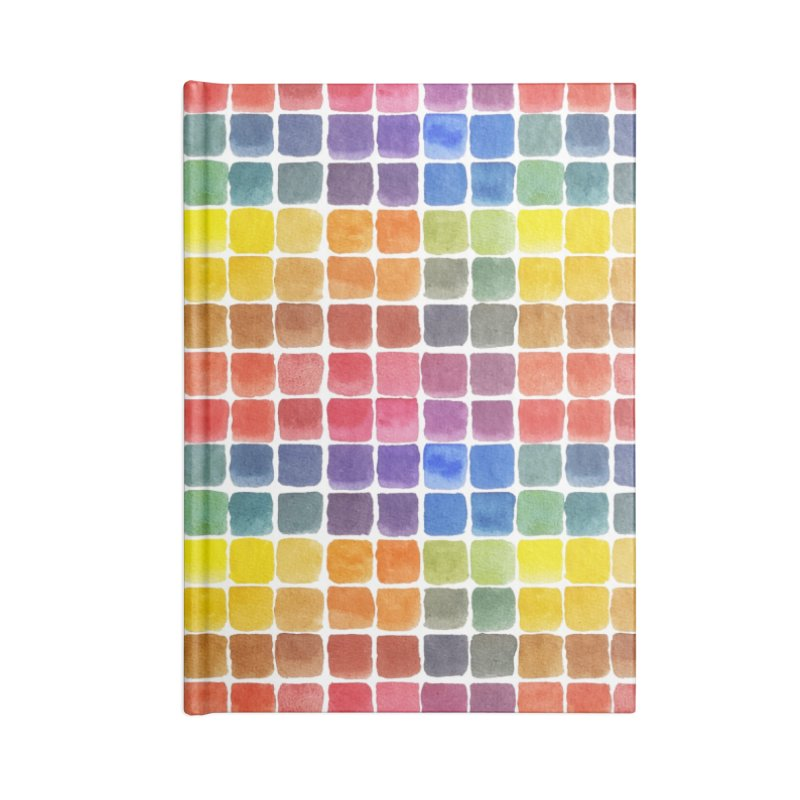 Mix it Up! - Watercolor Chart Pattern Accessories Lined Journal Notebook by milenabdesign's Artist Shop