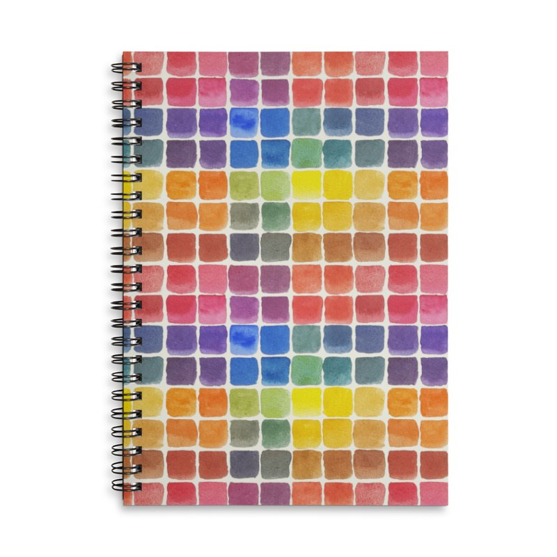 Mix it Up! - Watercolor Chart Pattern Accessories Notebook by milenabdesign's Artist Shop