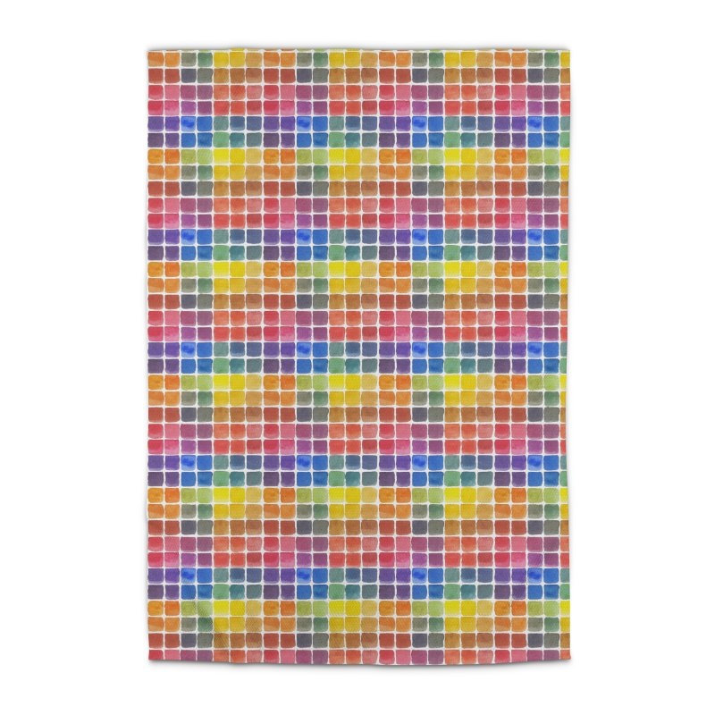 Mix it Up! - Watercolor Chart Pattern Home Rug by milenabdesign's Artist Shop