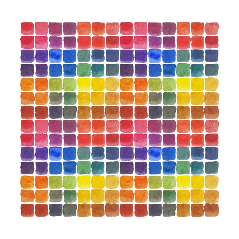 Mix it Up! - Watercolor Chart Pattern by milenabdesign's Artist Shop