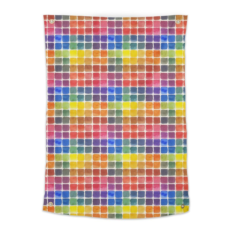 Mix it Up! - Watercolor Chart Pattern Home Tapestry by milenabdesign's Artist Shop